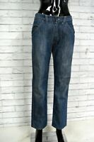 Jeans Vita Alta Donna STONE ISLAND 46 Pantalone Pants Woman Blu Regular Fit