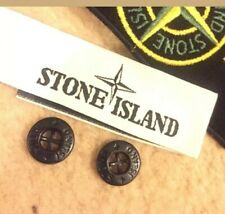 2 Stone Island Replacement Buttons and 1 Neck Label 100% Authentic!
