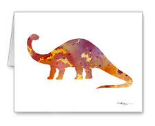 Brontosaurus Note Cards With Envelopes