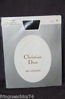collant polyamide soie noire CHRISTIAN DIOR SLIM LOREN taille 9 1/2 (3) NEUF