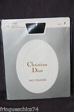 collant poliammide seta nero CHRISTIAN DIOR SOTTILE LOREN taglia 9 (2) NUOVO