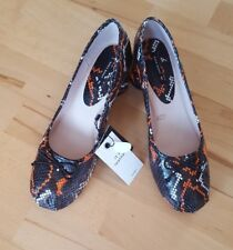 ZARA Snake Print High Heel Leather Ballerinas Court  Shoes NEW SIZE UK 7 EU 40