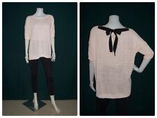 BNWT: ZARA Dolman Sleeves Knit Top with Back Ribbon Detail