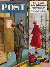 1956 Saturday Evening Post July 14-Manning SC station;Clarence Budington Kelland