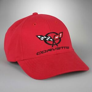 C5 CORVETTE Embroidered Script and Logo Hat Choose Red, Black, or White 630880