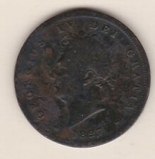 More details for rare 1827 george iv copper penny in used to fine condition