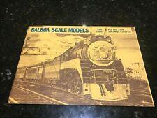 Balboa Scale Models-5th Edition-Catalogue-1969-Original-San Diego-No markings.