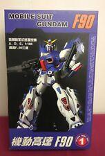 Mobile Suit Gundam F90. F-90 Gundam Mobil Suit. 1:100. New and Unused Set.