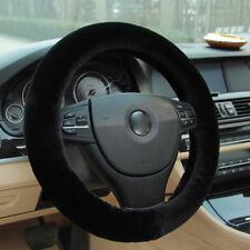 Universal Black Winter Car Warm Wool Steering Wheel Cover Woolen Comfortable