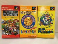 Lot MARIO KART Collection World SFC Super Famicom SNES NTSC-J CIB JAPAN Import