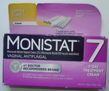 1 Monistat 7 Simple Cure with 7 Cream Applicators ~ 09/2018 ~ Re-Sealed Box ~