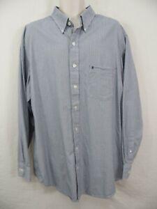 IZOD - Mens XXLT 2XLT Black Plaid Button Front Cotton Dress Casual Shirt LS
