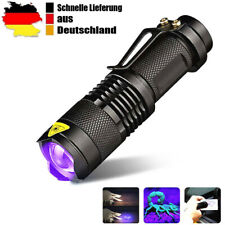 UV Lampe LED Taschenlampe 395 nm Zoom Scorpion Bernstein Schwarzlicht DHL
