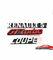Lot de 3 monogrammes : RENAULT 5 + GT TURBO + COUPE LOGO EMBLÈME BADGE