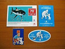 Lot Tintin : Autocollant + Folder + Magnet + Flyer - Editions Moulinsart.