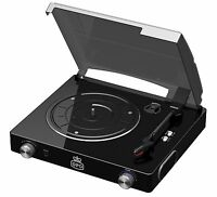 GPO STYLO Record Player Turntable with Built in Speakers - Black Turn Table