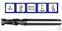 Fresa de acabado 4mm vhm 35° Largo 2 cortes din6535