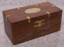 Wood Jewelry Puzzle Box with secret pull out tray NEW #2