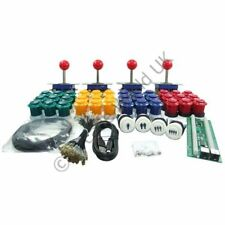 4 Player Arcade Joysticks Buttons & I-PAC4 Wiring Kit No10