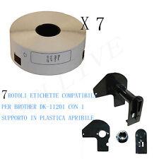 7 Etichette per Brother DK-11201 29mmX90mm QL-500A QL-550 QL-560 QL-570 QL 700