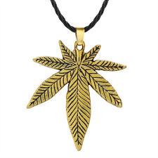 Big Hemp Fimble Leaf Necklace Antique Maple Leaf Hip Hop Indian Jewelry Men