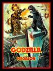 "4.5"" Godzilla vs. Megalon vinyl sticker. Classic movie monster decal for laptop."