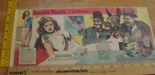 Laurel & Hardy Three Caballeros Seein' Stars Feg Murray Sunday color panel 5c