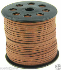 new 10yds 3mm brown Suede Leather String Jewelry Making Thread Cords hot