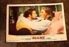 DIANE 1956 LOBBY CARD #3 ROGER MOORE