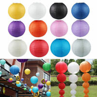 "6"" 8"" 10"" Round Paper Lantern Wedding Lamp Shade Grad Party Ceiling Decor New"