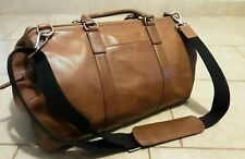 Fossil Men's  Brown Leather Mayfair Gym Overnigth  Duffle Bag