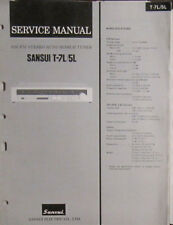 Sansui T-7L/5L tuner service repair workshop manual (original copy)