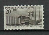 S21543) Italia 1949 MNH Nuevo Feria Milán 1v