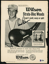 Arnold Palmer Autographed Signed Wilson Magazine Page Photo Beckett A62892