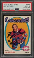 1971 O-Pee-Chee Guy La Fleur ROOKIE RC PSA/DNA 10 AUTO #148 PSA 9 Guy Lafleur