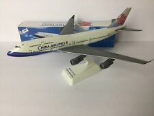 """China Airlines 11"""" Boeing 747-400 Snap Together Plastic Display Model w/Stand"""