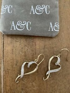 Angus And Coote 9ct Gold Diamond Earrings