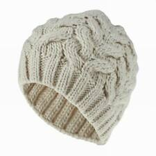 Winter Fashion Crochet Knit Ski Hat Thickened Warm Beanie Wool Cap for Men Women