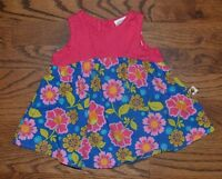 Tiny Tillia by Avon Baby Girls Bold Floral Cotton Sun Dress Size 0-3m EUC