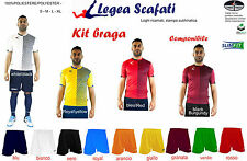 Kit Braga Legea Sport Muta Divisa Set 8 kit 120€ Completino Calcio Calcetto