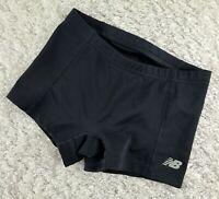 New Balance black spandex activewear shorts SIZE XS volleyball running short (O)