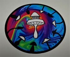 "New 4"" Disc Golf Art Sticker. Floating Mushroom Basket"