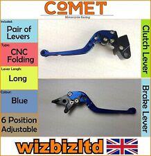 Kawasaki ZZR 600 1990-2004 [Folding Long Blue] [Comet Adjustable Race Levers]
