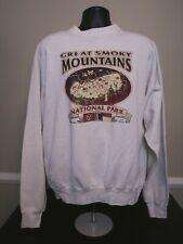 VTG 90s The Great Smoky Mountains Tennessee White Sweatshirt Size 3xl XXXL
