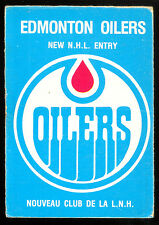 1979 80 OPC O PEE CHEE 82 EDMONTON OILERS VGEX NHL ENTRY UNMARKED CHECKLIST LOGO
