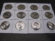 2010 2011 2012 2013 2014 2015 P & D  KENNEDY HALF DOLLARS (12 Coins)