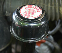 Landrover Series 1 2 2a AC Vintage Oil Filler Breather Cap Label Decal Red White