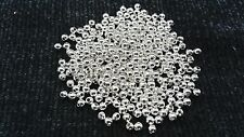 400 Silver Plated Smooth Metal Spacer Beads Round 4mm