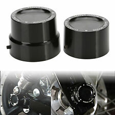 2pcs Rear Axle Cover Cap Nut Harley Dyna Softail Electra Street Glide Tri Black