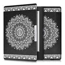 kwmobile Flip Tasche für Kobo Aura H2O Blume Schutz Hülle Etui Case Kunstleder